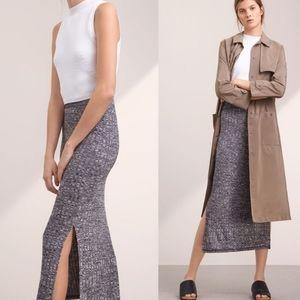 Aritzia Wilfred Free Verushka Midi Knitted Skirt